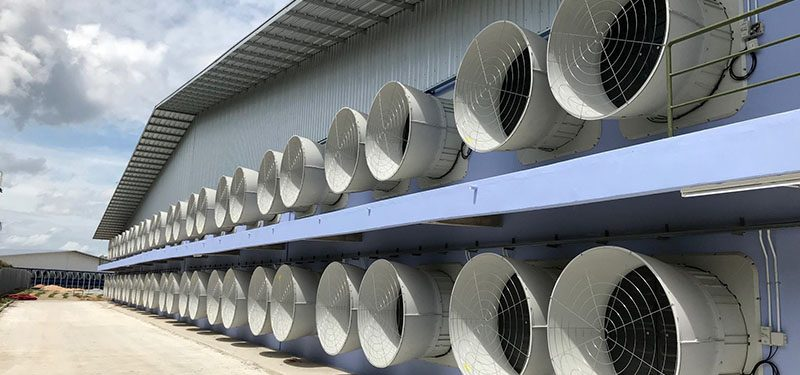 Lắp đặt thi công hệ thống thông gió nhà xưởng